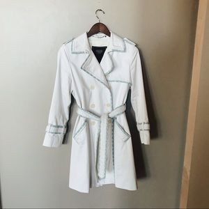 Coach Trench Coat with Blue Trim